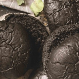Черные булочки для гамбургеров