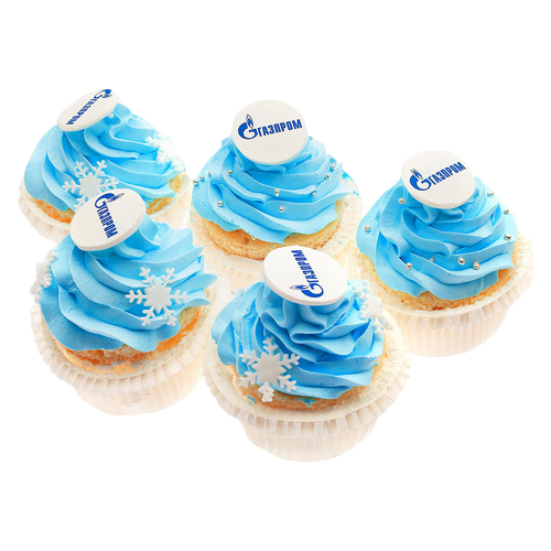 "Капкейки ""Логотип Газпром"""
