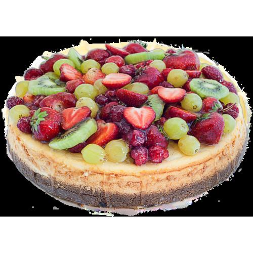 Чизкейк с ягодами и фруктами