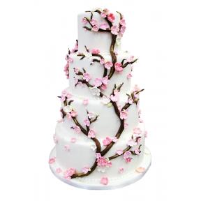 """Свадебный Торт """"Цветущая Сакура"""""""