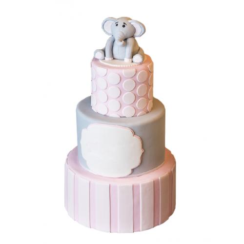 """Детский Торт """"Розовый Слон"""""""