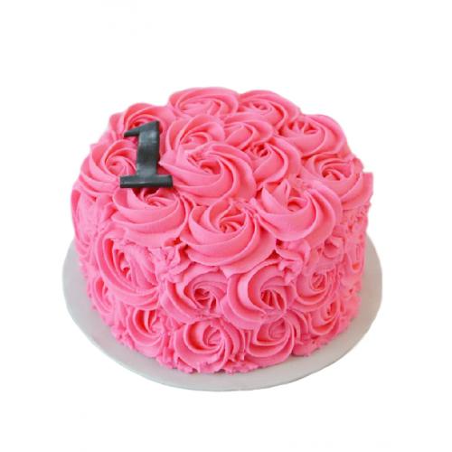 """Праздничный Торт """"Сливочная Роза"""""""